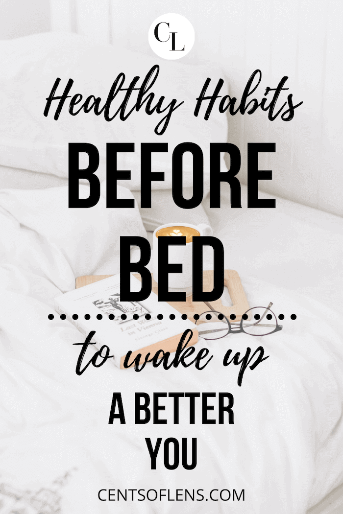 healthy habits before bed