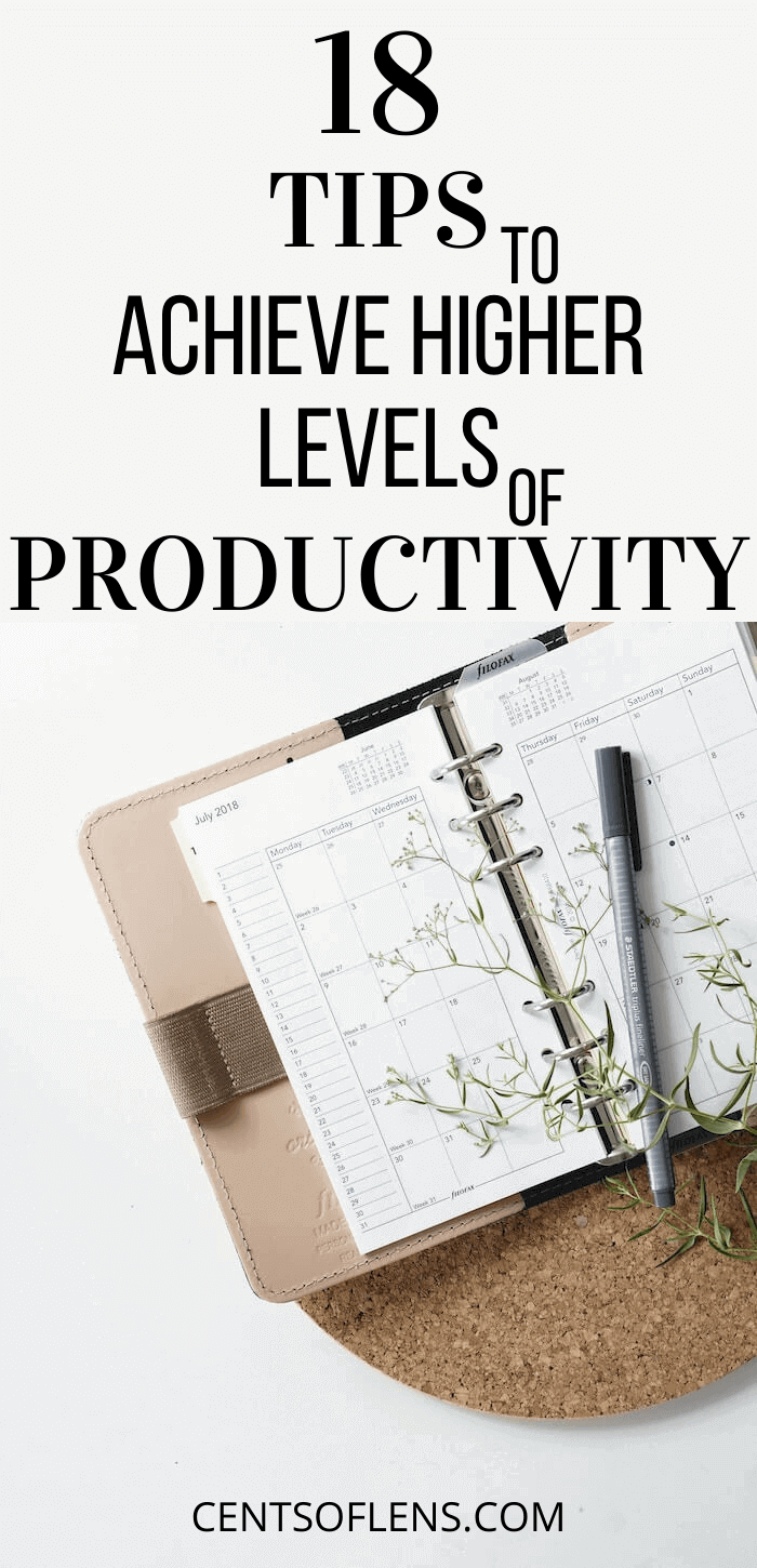 achieve higher levels of productivity